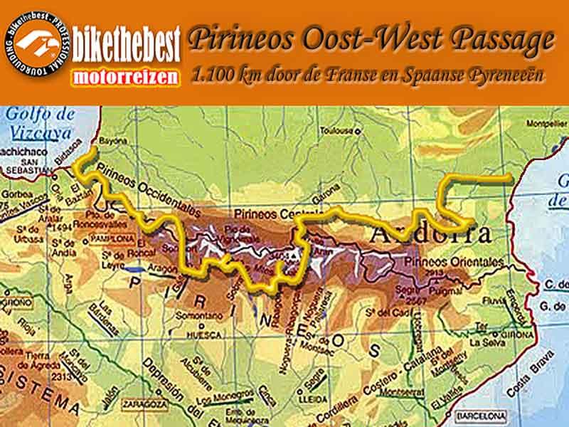 Pirineos Oost-West Passage motorreis