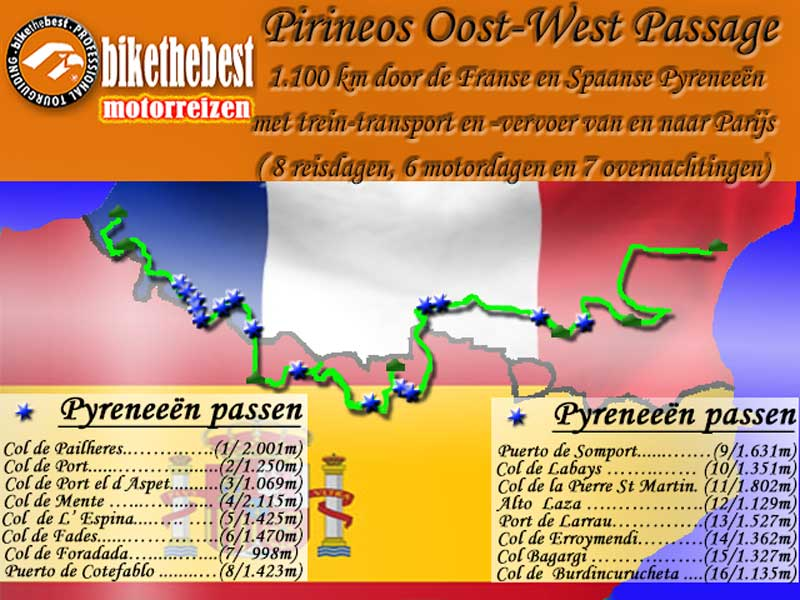 Pirineos Oost-West Passage motorreis