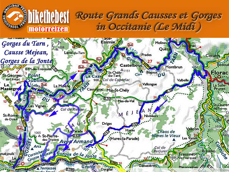 Le Midi: Grands Causses et Gorges in Occitanie